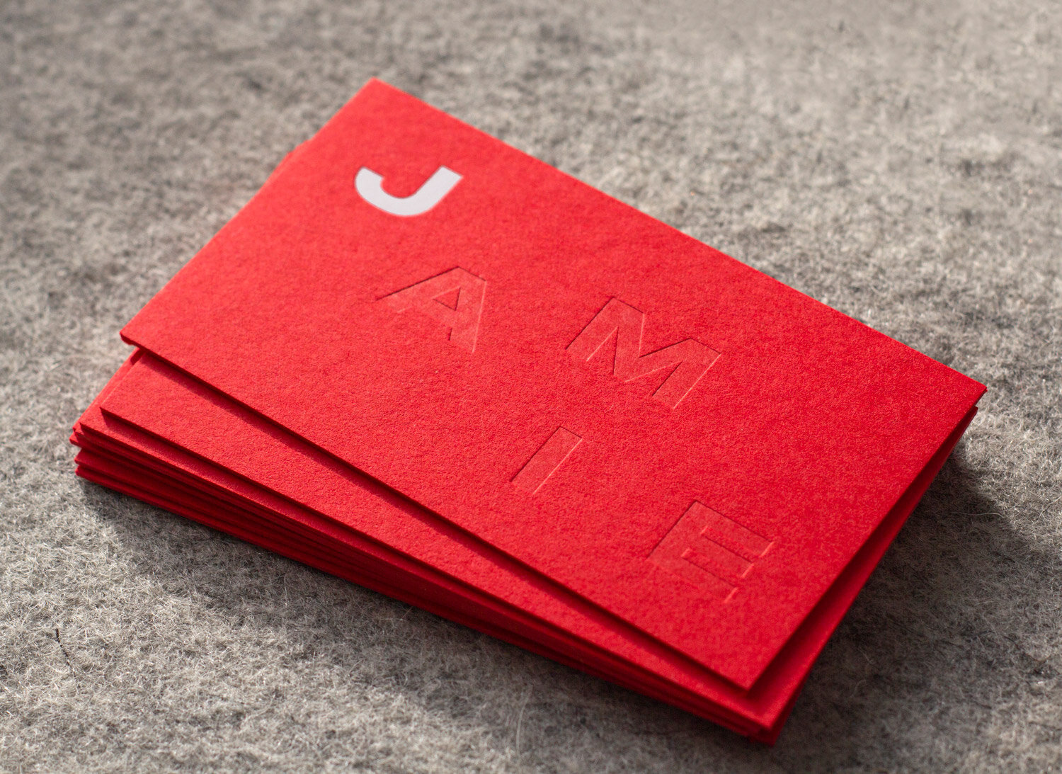 Jamie Webster Business Cards - Freelance Digital Designer based in Leeds
